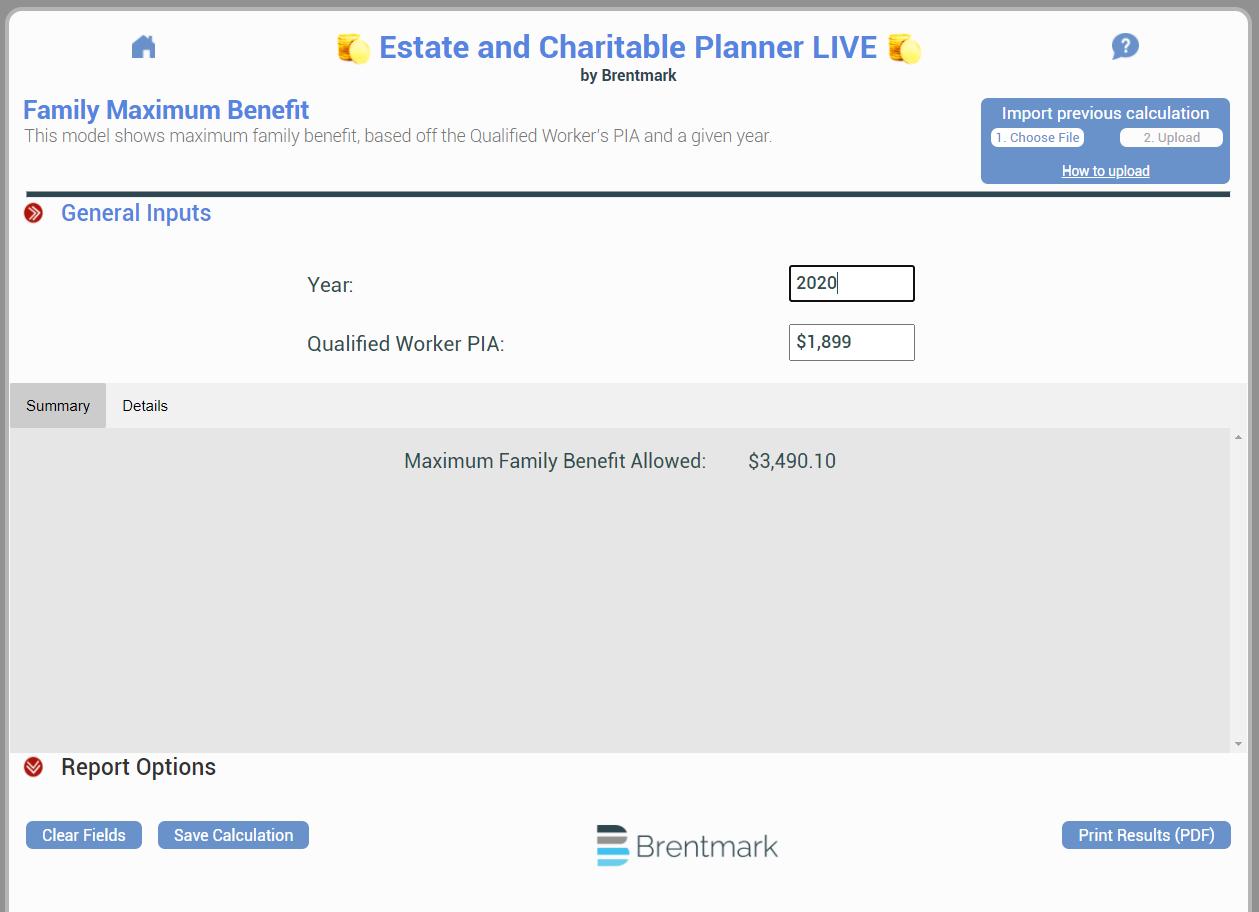 Social Security: Family Maximum Benefit
